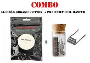 COMBO COIL PRE BUILT COIL MASTER + ALGODÃO ORGÂNICO COIL MASTER