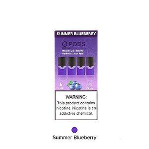 QPODS ( CARTUCHO ) NICSALT C/ LÍQUIDO P/ JUUL SUMMER BLUEBERRY - QPOD