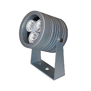 Projetor LED 6W Aluminio e Acrilico 7x11cm Proteção IP66 4000K Lente 25º PowerLume PJ6W