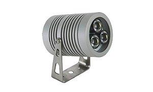 Projetor LED 9W 4000K Alumínio 7x11cm Lente 25º Proteção IP66 PowerLume PJ9W