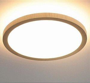 Plafon/ Arandela Naiá Lâmina Natural de Madeira MDF Acrílico 7x35 cm LED Integrado 2700K Accord 5089