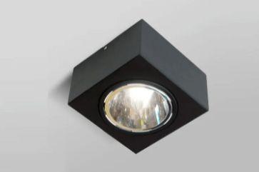 Plafon Florence Alumínio PAR 16 50W/ LED 8x9x8cm Pintura Microtexturizada Cor Preto Acend 01280