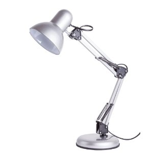 Luminária de Mesa Empire B Aço 1XE27 Articulável 16x60cm Cor Prata 20W Startec 110110002