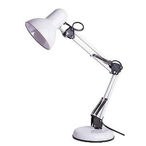 Luminária de Mesa Empire B Aço 1XE27 Articulável 16x60cm Cor Branca 20W Startec 110110001