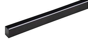 Perfil Sobrepor Recuado Plano Archi 24Vcc 1MT 28W 550lm 2700K Alumínio 80° Cor Preto Stella STH21973PTO/27