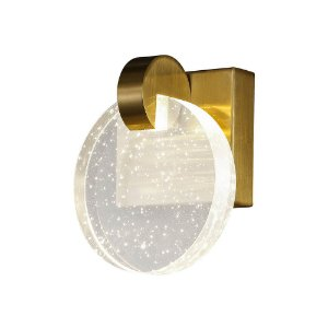 Arandela Maya Metal e Difusor Cristal 16x13x8,3cm Led 3W 240LM 3000K Bivolt Cor Dourado Studioluce AR1476