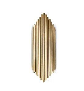 Arandela Pipe Metal 18x50cm 2xG9 Cor Dourado Mais Luz AR-119/2.50BRO