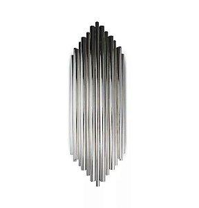 Arandela Pipe Metal 18x50cm 2xG9 Cor Cromado Mais Luz AR-119/2.50C