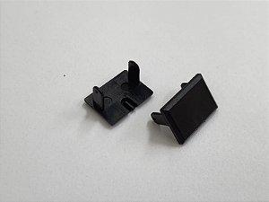 Tampa Lateral Acabamento Plástico para Perfil Embutir Slim Cor Preto Revoled AX0101B
