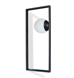 Arandela Charm Alumínio e Vidro Fosco Branco 70x30x15 1xG9 Led Cápsula Bivolt Itamonte Nac 261/1