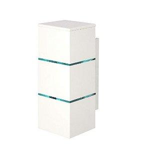 Arandela 2 Filetes Alumínio e Vidro Transparente 10x10x28,5cm 2xG9 LED Cápsula Bivolt Itamonte Nac 239i