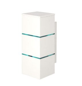 Arandela 2 Filetes Alumínio e Vidro Transparente 10x10x28,5cm 2xG9 LED Cápsula Bivolt Itamonte Nac 239e