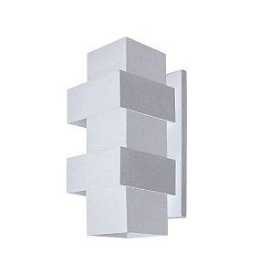 Arandela Efeitos Alumínio 11,5x25x11,5cm 2xG9 LED Cápsula Bivolt Itamonte Nac 254/2