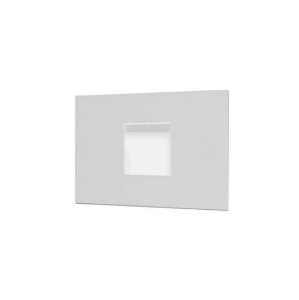 Balizador De Embutir Alumínio e Vidro Fosco 11,5x7,5x04cm 1xG9 LED Cápsula Bivolt Itamonte Nac 901
