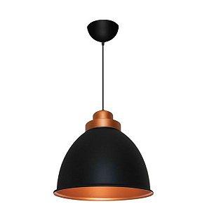 Pendente Decor Industrial Alumínio ø42x37cm 1xE27 LED Bulbo A60 Bivolt Itamonte Nac 433/42
