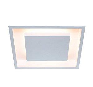 Luminária Embutir Eclipse Alumínio 50x50x7,5cm 4xE27 LED Bulbo A60 Bivolt Itamonte Nac 2041/60 E27