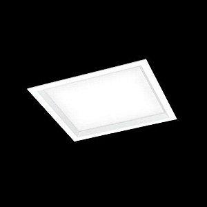 Luminária Embutir Square Alumínio Difusor Acrílico 24x24x10cm 2xE27 LED Bulbo A60 Bivolt Cor Branco Itamonte Nac 2026/24