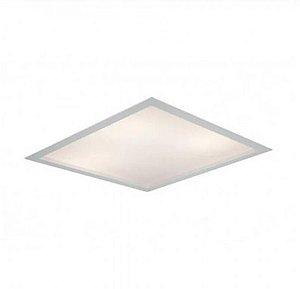 Luminária Embutir Square Alumínio Difusor Acrílico 50x50x10cm 6xE27 LED Bulbo A60 Bivolt Cor Branco Itamonte Nac 2027/50
