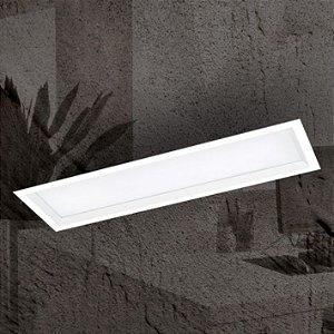 Luminária Embutir Slim Alumínio e Difusor Acrílico 20x67,5x10cm 4xE27 LED Bulbo A60 Bivolt Cor Branco Itamonte Nac 2028/20