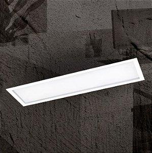 Luminária Embutir Slim Alumínio e Difusor Acrílico 20x67,5x10cm 4xE27 LED Bulbo A60 Cor Branco Itamonte Nac 2029/20