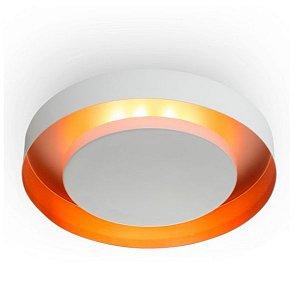 Luminária Sobrepor Eclipse Alumínio ø50x08cm 4xE27 LED Bulbo A60 Bivolt Itamonte Nac 3046/50E27