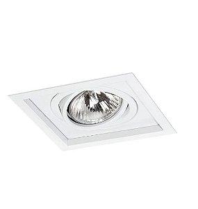 Spot Módulo Embutir Simples Alumínio 20,5x20,5x12cm  1xE27 LED Par30 Bivolt Itamonte Nac 1013/1