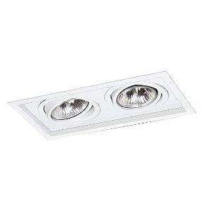 Spot Módulo Embutir Duplo Alumínio 20,5x36,5x12cm  2xE27 LED Par30 Bivolt Itamonte Nac 1013/2