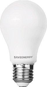 Lâmpada Bulbo IP54 E27 9,5W 60W 2700K 220° Bivolt 810LM Saveenergy SE-215.508