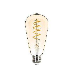Lâmpada ST64 Filamento Vintage Espiral Bivolt 2,5W 200LM 2400K E27 300º Stella STH8242/24