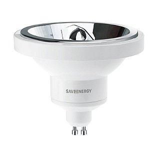 Lâmpada AR111 GU10 13W-75W 2700K 24º Bivolt 765LM-3500CD Saveenergy SE-105.529
