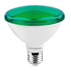 Lâmpada PAR30 Verde IP54 E27 10W | 75W 24º Bivolt 790LM | 2580CD Saveenergy SE-115.1269