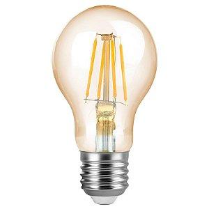 Lâmpada Bulbo Filamento A60 Vintage E27 4W | 40W 2200K 360º Bivolt 300LM Saveenergy SE-345.1388