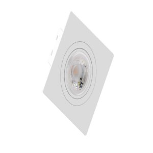 Embutido MR11 Quadrado Face Plana Branco Sistema Click Saveenergy SE-330.1270
