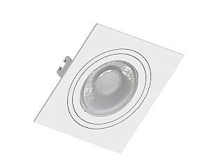 Embutido MR16 Quadrado Face Plana Branco Sistema Click  Saveenergy SE-330.1031