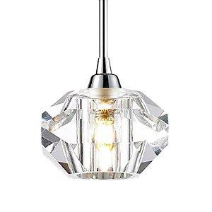 Pendente Aço e Cristal Translúcido 14x15,5cm 1xG9 40W Cor Cromado Mais Luz PE-012/1.12CL