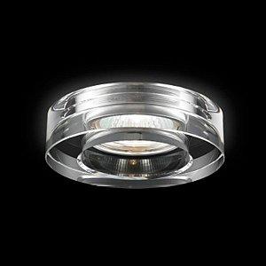Spot De Embutir Aço Cromado - Cristal Translúcido Mais Luz SE-007/1.10