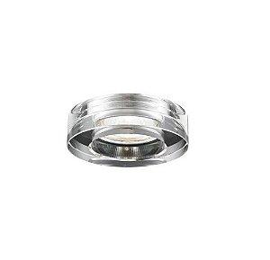 Spot Embutir Redondo Aço e Vidro ø6,5x3,5cm 1xGU10 35W Transparente Mais Luz SE-007/1.6