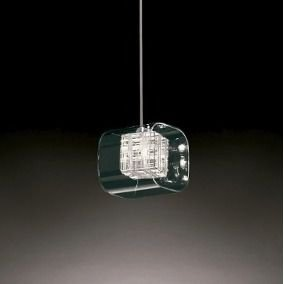 Pendente Chess Cube  Vidro 12x12cm 1xG9 Cor da Estrutura Cromada e Vidro Transparente Casual Light 185