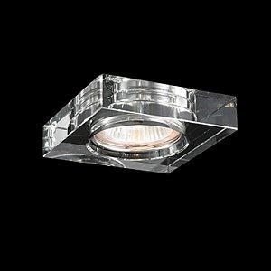 Spot de Embutir Aço Cromado - Cristal Translúcido + Luz SE-008/1.10