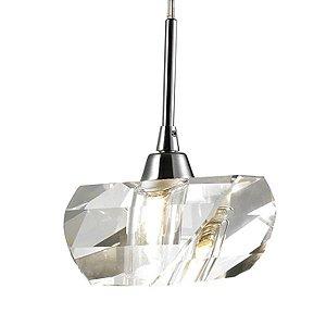 Pendente Aço Cromado - Cristal Translúcido Mais Luz PE-013/1.9CL