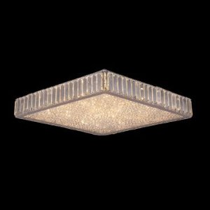 Plafon Aço Cromado Cristal Translúcido Mais Luz PL-028/12.40CL