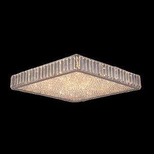 Plafon Aço Cromado - Cristal Translúcido Mais Luz PL-028/16.53CL
