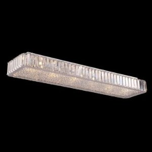 Pendente Aço Cromado - Cristal Translúcido Mais Luz PL-028/10.91CL