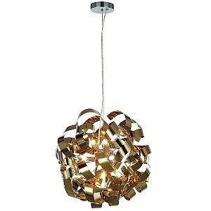 Pendente Aço Dourado Mais Luz PE-033/9.45DOU