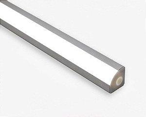 Perfil de Alumínio de Canto em V 1 MT Difusor Leitoso Revoled AP0401