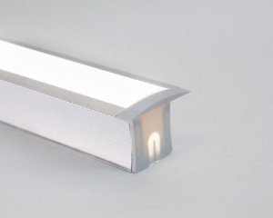 Perfil Embutir de Alumínio Duo Difusor Leitoso Barra 250cm Revoled AP0801