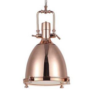 Pendente Kitchen Metal Bronze E Vidro Fosco Mais Luz PE-081/1.37BRO