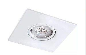 Embutido Foco Fixo com Face Quadrada em Alumínio Injetado PAR20 1XE27 10,5x10,5cm Impacto 1030