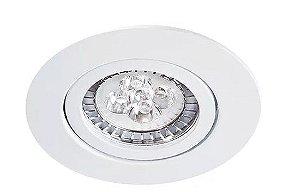 Embutido Orientável Redondo em Alumínio Injetado Sistema Click Branco MR11 1XGU10 Impacto 1090