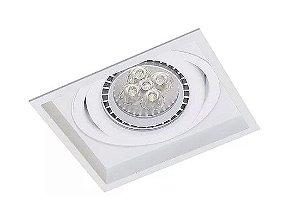Embutido Micro Borda em Alumínio Injetado Com Foco Orbital  11,5x11,5cm Branco Fosco/Microtexturizado Impacto 1010